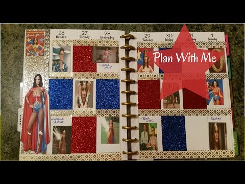Plan With Me Wonder Woman Theme Happy Planner