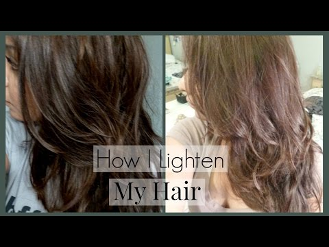 How I Lighten My Hair and Roots and Home │ How I Color My Hair to Light Ash Brown/Blonde