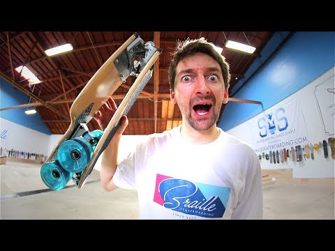 THE INCREDIBLE FOLD UP LONGBOARD, VERSION 3.1! | YOU MAKE IT WE SKATE IT EP 151