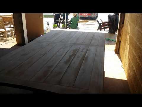 teak custom table