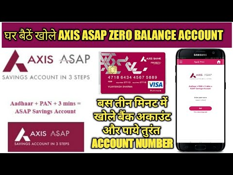 HOW TO OPEN AXIS ASAP ZERO BALANCE ACCOUNT:No monthly average required full review