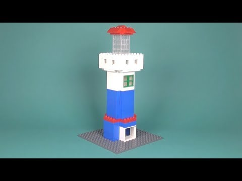 Lego Lighthouse (001) Building Instructions - LEGO Classic How To Build - DIY