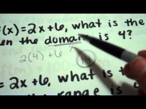Domain and Range for Linear Functions