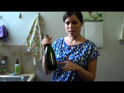 How to remove labels from glass bottles