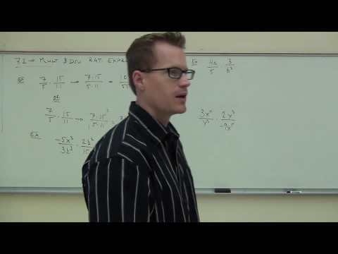 Intermediate Algebra Lecture 7.2:  How to Multiply and Divide Rational Expressions