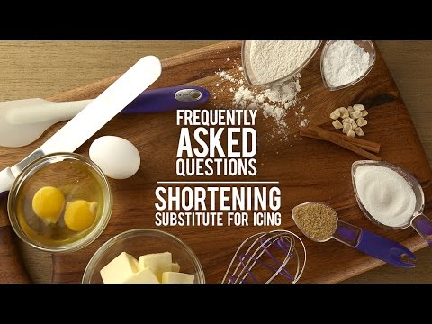 Icing FAQs Answered: Shortening Substitues for Icing?