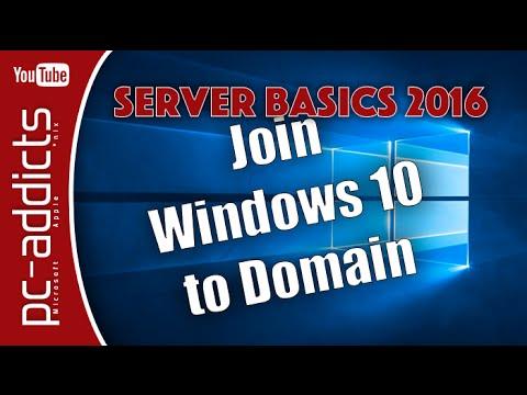 Join Windows 10 to Domain - Server Basics #07