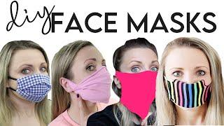DIY Face Mask Compilation! 4 Ways + Filter (NO SEW) Bandana, Sock, T-Shirt, Pattern Video Tutorials