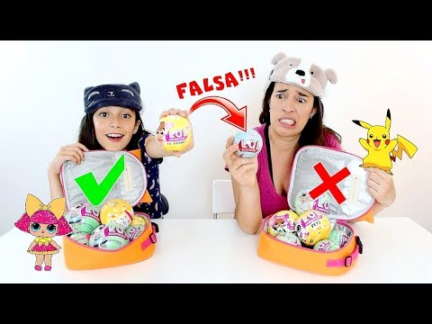 DESAFIO TROCA DE LANCHEIRAS | LOL FALSA vs LOL VERDADEIRA ★ Brincando com Mamãe (Lunchbox Challenge)