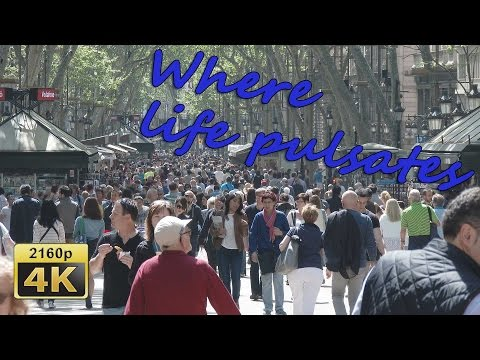 La Rambla, Barrio Gotico, Barcelona, Catalonia - Spain 4K Travel Channel
