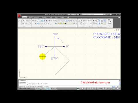 AutoCAD Tutorial  - Relative Polar Coordinates Entry