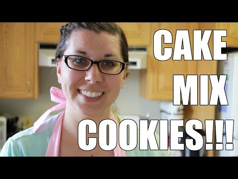 CAKE MIX COOKIES! - Cooking with Amy