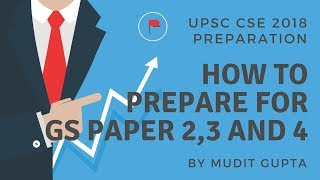 How To Prepare For GS Paper 2,3 and 4 - UPCS CSE 2018 Preparation by Mudit Gupta