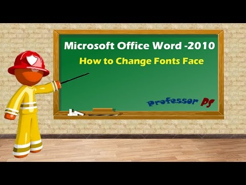 Microsoft Office Word - How to change Font Face ?