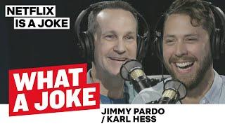 Jimmy Pardo Uses Human Props & Karl Hess Combines Food with Comedy | What a Joke | Netflix is a Joke
