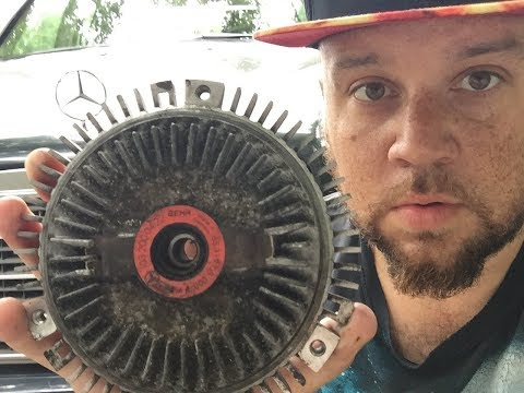 how to tell if  fan clutch is working 👂🏻(mercedes m104 engine)