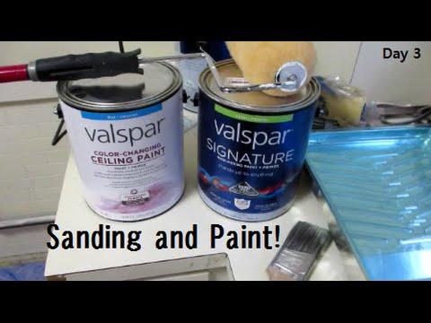 Sanding and Painting! - Kitchen Reno Day 3   DIY Distress