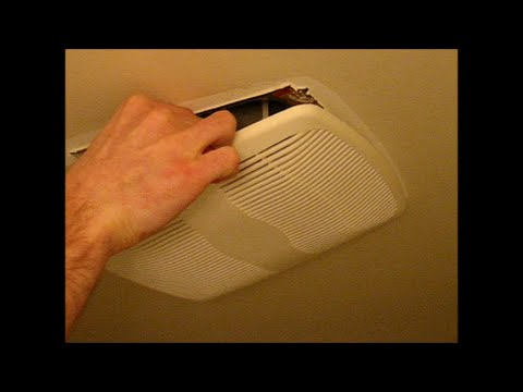 Bathroom vent fan, remove cover and clean dust