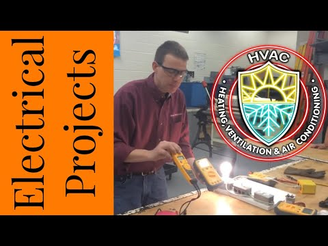 HVAC Electrical Project 3 - Testing the contactor, thermostat and fan with a volt & amp meter