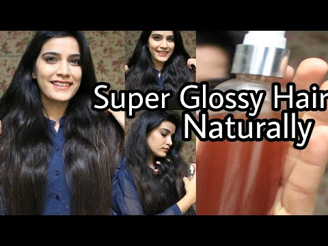 One Ingredient Make My Hair Super Glossy & Shiny | 100% Natural & live demo |