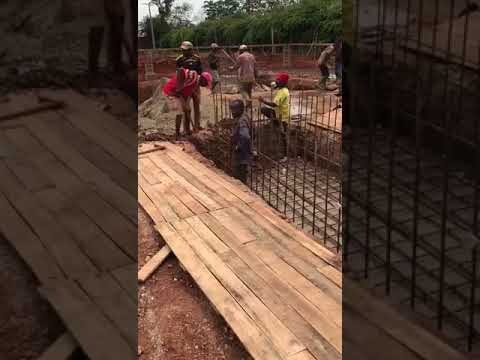 TerraStar Energy - Pouring concrete for generator pads
