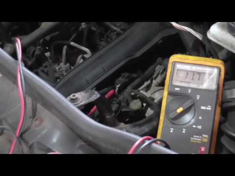 Testing a Camshaft Position Sensor (Hall Effect Type) - MultiMeter