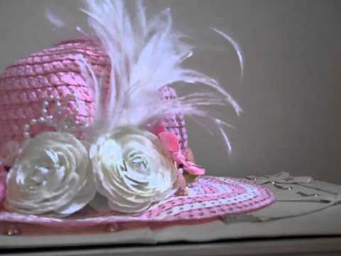 Beautiful Dollar Tree Altered Easter Hat!