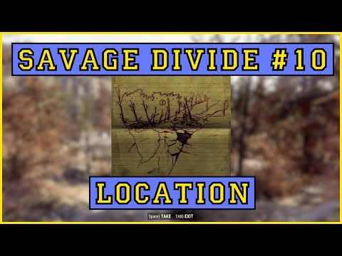 Fallout 76 | Savage Divide Treasure Map #10 LOCATION!