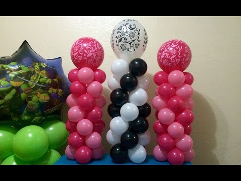 Easy Mini Balloon Columns!