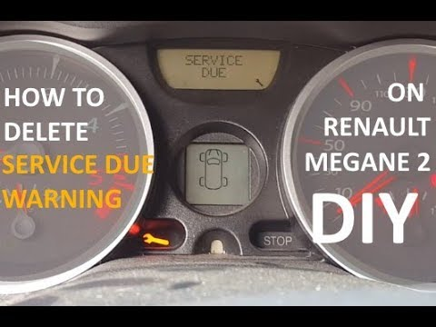 How to delete Renault Megane 2 service due warning light