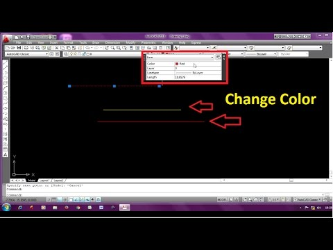 2 WAYS to Change Line Color in Autocad