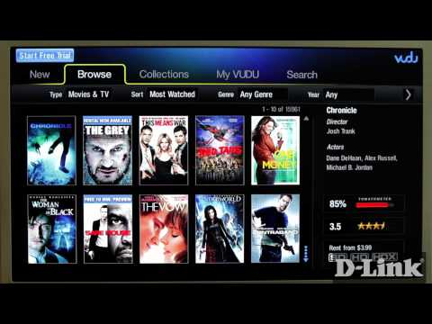 How to watch VUDU on MovieNite (DSM-310)