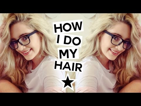 How I Do My Hair | Messy Curly/Waves