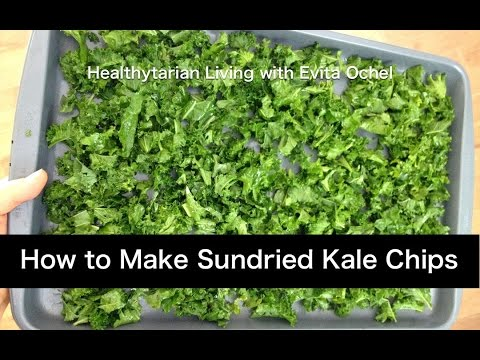 How to Make Sundried Kale Chips