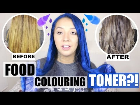 FOOD COLOURING HAIR TONER! DOES IT WORK?| ThoseRosieDays