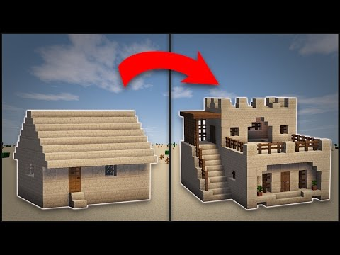 Minecraft: How To Remodel A Desert Village Large House