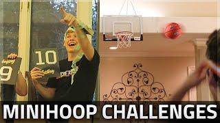 CRAZY MINIHOOP BASKETBALL CHALLENGES!!