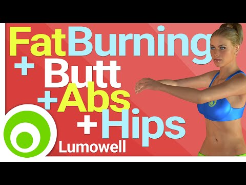 Low Impact Fat Burning Workout + Butt, ABS and Hips Exercises - No Jump