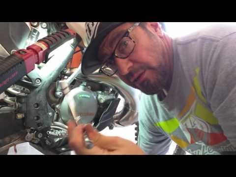 Clean -No Drip- Oil Change KTM 300XC 2016
