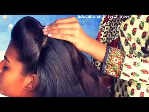 Simlpe Front Puff hairstyle under 2 Minutes
