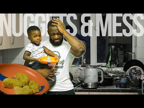 Toddler Makes Chicken Nuggets for Bodybuilder Dad | Dadlife Ep. 6