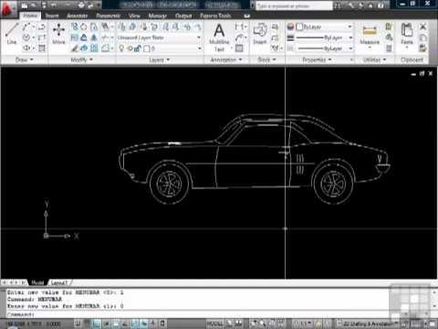 Beginners AutoCAD Tutorial - Toolbars and Menu