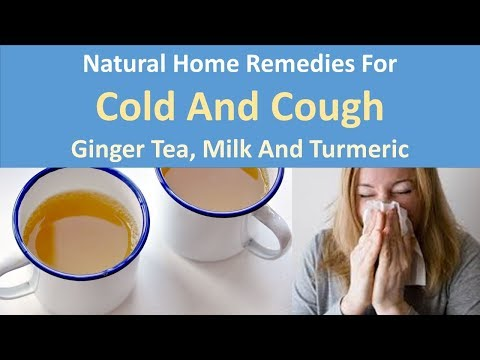 Natural home remedies for common cold and cough|Ginger tea, Milk and turmeric