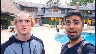 WE BROKE INTO LOGAN PAULS HOUSE *CAUGHT* !!!