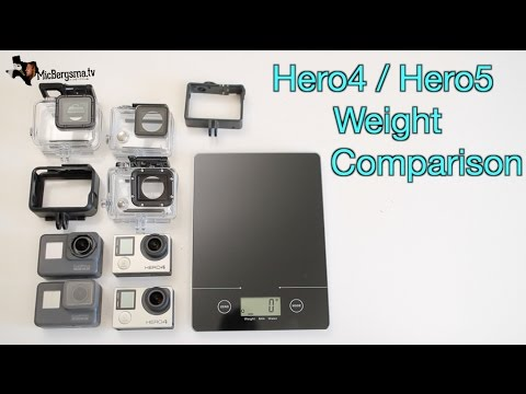 GoPro Hero5 vs Hero4 Weight Comparison - GoPro Tip #572