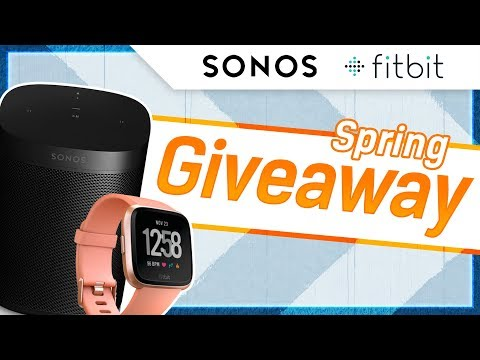 GIVEAWAY!!  Sonos One AND Fitbit Versa