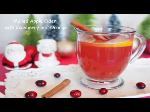 Mulled Apple Cider |  Cranberry warm Apple cider | Easy Winter Special Holiday Warm Drink recipe