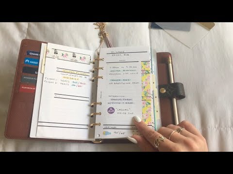 LOUIS VUITTON AGENDA MM | HOW I PLAN FOR A TRIP (MY TRAVEL PLANNER)