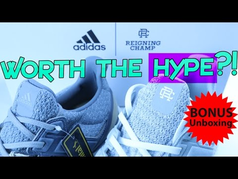 huge discount b831d 9968c 2017 REIGNING CHAMP ADIDAS ULTRA BOOST + SPECIAL BONUS LIMITED EDITION  UNBOXING!