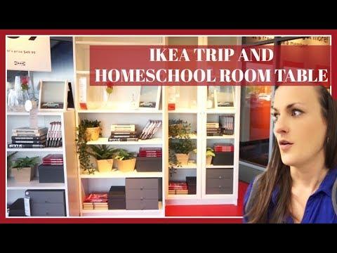IKEA TRIP and Homeschool Room Table